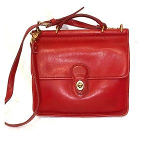 Vintage COACH Willis Red #9927 Made In USA